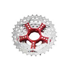Cassettes y piñones rojos SRAM para bicicletas