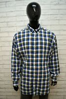 Camicia Uomo TOMMY HILFIGER Maglia a Quadri Taglia Forte Shirt Men's Big Size