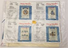 4 Pack of Mary Maxim Magnet Cross Stitch Kit Coffee Home Welcome Country