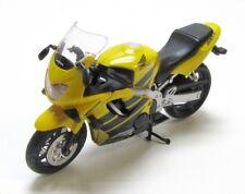 HONDA 600 f4 MOTO in giallo nero modello scala 1:18