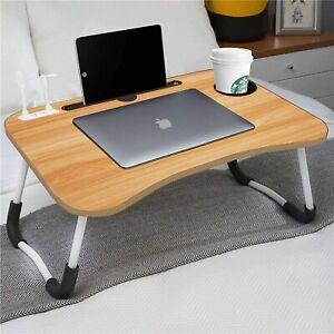 USBPort Laptop Table Folding Bed Tray Portable Home study Laptop Desks Cup Slot