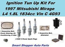 1997 Mitsubishi Mirage 1.8L Serpentine Belt, Spark Plug,  Oil Air Filter Tune up