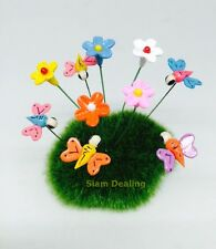 Miniature Dollhouse Fairy Garden Accessories 10 Tiny mix butterfly & Flower