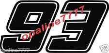 STICKER 93  MARC MARQUEZ MOTO GP POLY CARRENAGE HONDA REPSOL 10 cm