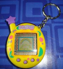 Tamagotchi  Keychain Yellow & Purple & Pink Candy Dots