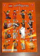 LEGO 8804 MINIFIGURE Series 4 INSTRUCTION CHECKLIST Mini-Insert Poster Only