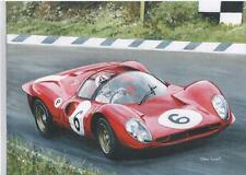 Chris Amon, Ferrari 330P4, Brands Hatch 1967 art print
