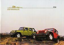 Jeep Wrangler 2007-08 German Market Brochure Sport Rubicon Unlimited Sahara