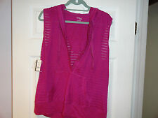 NY & CO WOMEN'S DARK PINK BLOUSE SIZE XL NEW WITH TAGS