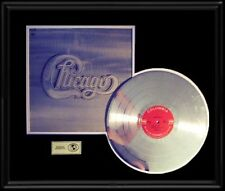 CHICAGO TWO ROCK BAND RARE GOLD RECORD PLATINUM  DISC LP ALBUM FRAME
