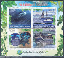 BURUNDI 2012  PROTECTION OF NATURE THE GREAT PACIFIC GARBAGE PATCH SHEET MINT NH