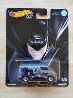 Hot Wheels Diecast Model Car Custom '77 Dodge Van Real Riders Batman DC Comics