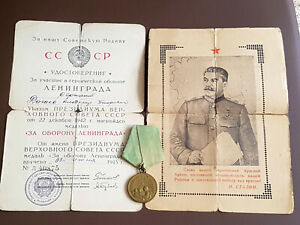 UDSSR ORDEN MEDAILLEN USSR ORDER MEDAL SOWJETUNION SOVIET ABZEICHEN LENINGRAD !!