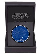 2017 STAR WARS SHIPS: YT-1300 MILLENNIUM FALCON - 1 OZ. SILVER COIN - 1st coin