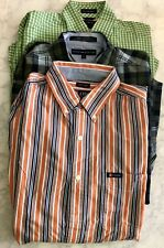 Lot Of 3 CHAPs Tommy Hilfiger Button Down Oxford Dress Shirts Men's Size M