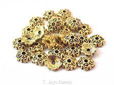 60 x Tibetan Gold Finish Bead Caps Jewellery Findings