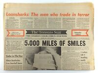 July 2 1977 Toronto Star Front Section Only Loansharks Trade In Terror M325