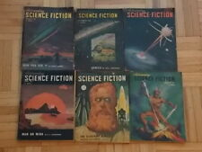 ASTOUNDING SCIENCE-FICTION PULP MAGAZINE 6 1948 ISSUES JAN FEB MAR APRIL AUG DEC