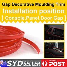 7Meters Auto Mouldings Gap Trim Red Liner Garnish Dashbroad Edge Decorative DIY