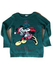 Ladies Disney Mickey And Minnie Christmas Jumper Size M