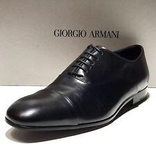 NEW Giorgio Armani Black Leather Dress Captoe Oxford 9 42 Men's Fashion Shoes