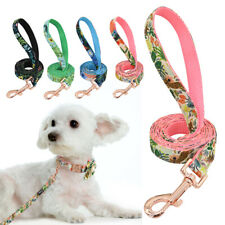 5ft Floral Dog Leash Strong Nylon Walking Lead Small Medium Large Dogs Pink Blue
