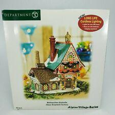 Department 56 Alpine Village Series Weihnachten Glashutte Glass Ornament Factory