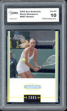2005 Maria Sharapova Ace Authentic Tennis Rookie  Gem Mint 10 #MS7