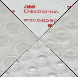 3m Rubber Feet Bumpon Transparent Self Adhesive Circle Flat Clear Free Postage