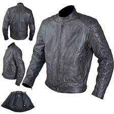 Giacche blu in pelle con protezione certificata CE per motociclista