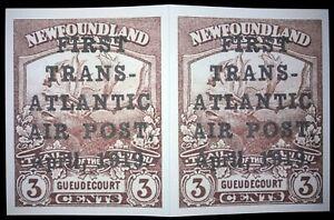 "Newfoundland.1919.""FIRST TRANS-ATLANTIC AIR POST"".(REPRODUCTION.)BOOKLET-16 PCs."