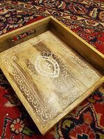 Hand crafted wood serving tray