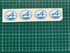x4 STICKERS ALPINE - 3,3x4cm - renault vintage A310 autocollant collection