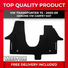 GENUINE VW LOGO OE TRANSPORTER T5 03-09 1Pc FRONT TAILORED CARPET MAT 1+2 RHD