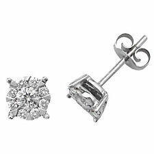 Butterfly 9 Carat White Gold I1 Fine Diamond Earrings