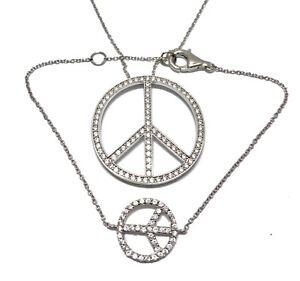 .925 Sterling Silver 0.95ct Diamonique Diamond Set of Necklace & Bracelet