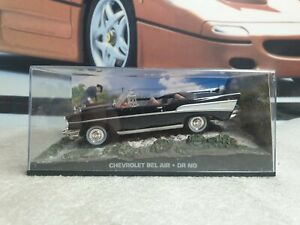 EAGLEMOSS - james bond, 007 - CHEVROLET BEL AIR - 1/43 scale model  car display