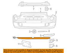 FIAT OEM 12-17 500 Front Bumper Grille-Air Deflector 68073861AA