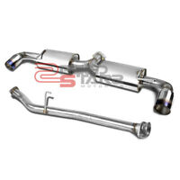 "MAZDA RX8 SE3P RENESIS  STAINLESS CATBACK EXHAUST MUFFLER 3.5"" DUAL BURNT TIP"