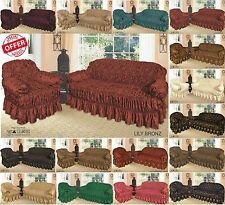 Sofa Covers (Jacquard)  3 Sizes 1, 2 & 3 Seater in 14 Available Colours