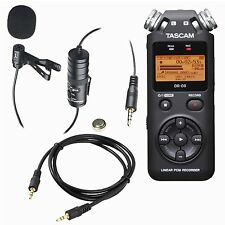 Tascam DR-05 Portable Handheld Digital Audio Recorder (Black) with Accessories