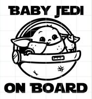 Star Wars The Mandalorian The Child On Board Desert Decal Multi-Color