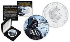 2017 Niue 1 oz Pure Silver Bu Star Wars Darth Vader Coin w/ Hoth Snow Backdrop