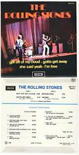 RARE FRENCH EP THE ROLLING STONES RARE SLEEVE GET OFF MY CLOUD