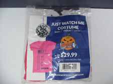 JUST WATCH ME T-SHIRT DISCO BALL WOMEN HALLOWEEN COSTUME LARGE