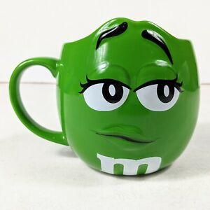 Mars M&M'S World Large Cappuccino Mug,  Green Figure Ceramic Cup