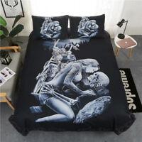 HOT Powerful Skull Bedding Set Duvet Cover Comforter Cover Pillow Case