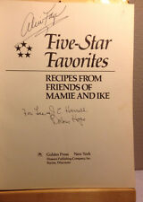 Alice Faye and Dolores Hope SIGNED Cookbook RARE Bob Hope's Wife