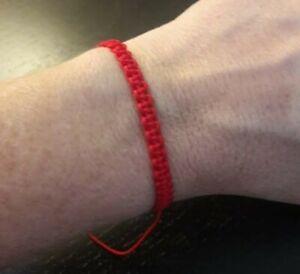 Red Lucky Bracelet Kabbalah Evil Eye String Adjustable.