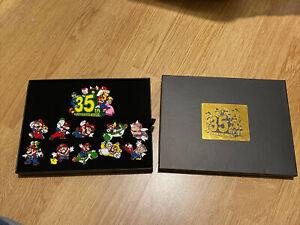 NINTENDO Super Mario Bros. 35th Anniversary Rare Complete Pin Set Waves 1&2